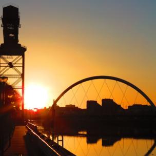 Sunrise in Glasgow