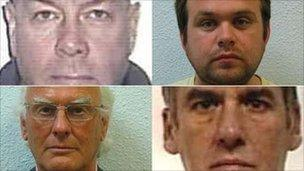 (Left to right) Graham Freeman, Daniel Summers, Adam John Spears, Phillip Campbell Smith. Pic :Soca