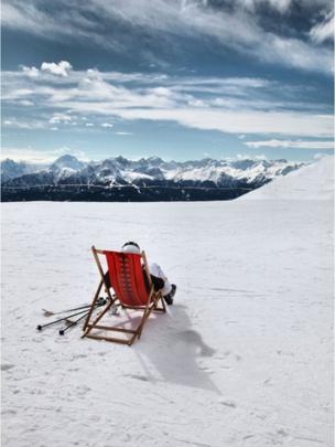 Break time on the slopes at Innsbruck