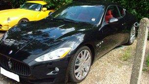 One of the expensive sports cars bought by Pruthi