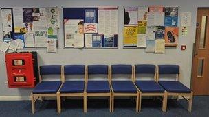 Doctors' waiting room