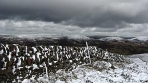 Snow on the Pentland Hills