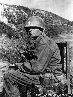 Father Kapaun in an undated photograph from Korea
