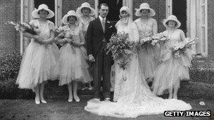 Wedding in the 1920s
