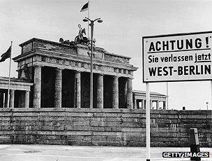 Berlin Wall at Brandenburg Gate