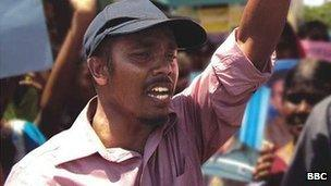 Lalith at a demonstration