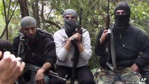 Free Syrian Army fighters in Idlib province, on 13 March