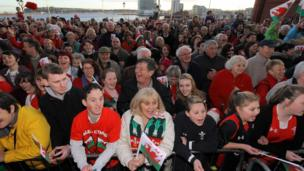 Many fans turned up early to get a prime spot to welcome home their heroes