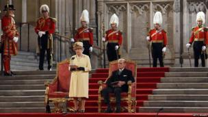 The Queen in Westminster Hall
