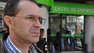 Jose Manuel Ribeiro outside job centre in Lisbon