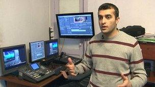 Rasul Jafarov, founder of the Azeri campaign group Singing For Democracy