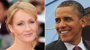 JK Rowling and Barack Obama