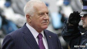 Czech President Vaclav Klaus (file pic)