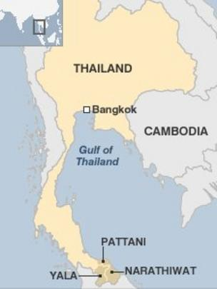 Pattani Thailand Map.Three Deadly Explosions Hit Yala In Southern Thailand Bbc News