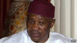 Ousted Malian President Amadou Toumani Toure