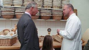 Patrick Moore shows the Prince of Wales around