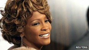 Whitney Houston in a file photo 10 February 2007