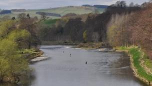 Fishermen in the River Tweed