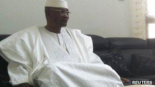 Mali's ousted President Amadou Toumani Toure on 8 April 2012