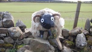 Scarecrow sheep