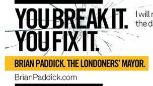 Liberal Democrat poster with slogan 'You Break It You Fix It'