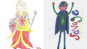 Superheroes Britannia and Savage