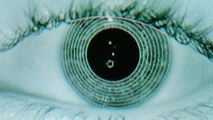 Human eye being scanned