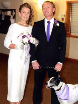 Dog Snoopy Is Best Man At Sue And Michael Hopkins Swansea Church