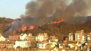 Hastings hill fire