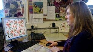 Joanna Brockbank, designer at S Dawes Weaving