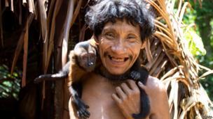 Takwarentxia and his pet monkey