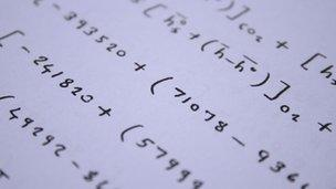 Equations on paper