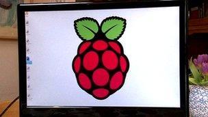 Raspberry Pi desktop screen