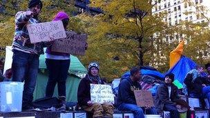 Occupy Wall Street camp