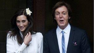 Sir Paul McCartney (right) and new wife Nancy Shevell