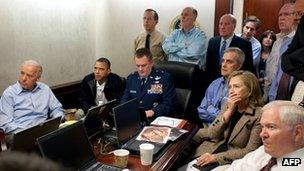 Obama and his national security team