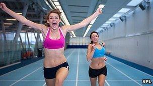 Girls doing sport