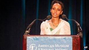 Ethiopian writer Serkalem Fasil, wife of Eskinder Nega