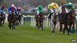 Grand National race at Aintree