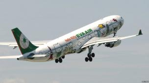 Hello Kitty themed aeroplane