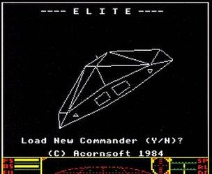 Screenshot of a computer game Elite
