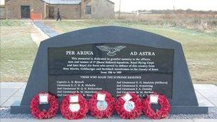 War memorial at Stow Maries Aerodrome