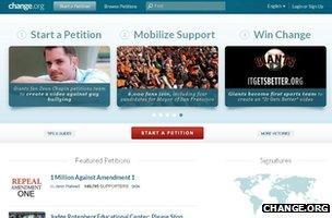 Change.org screenshot