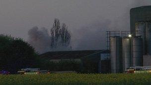 Fire at Oxford Plastics