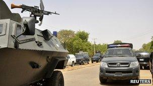 Security forces in Kano, northern Nigeria, April 2012 (file image)