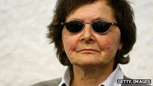 Former Red Army Faction member Verena Becker at her trial in Stuttgart, Germany, on 14 May 2012