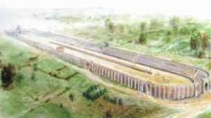 The Roman circus was discovered on the site in 2004
