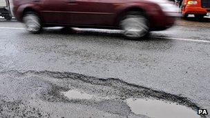 Pothole on road - generic