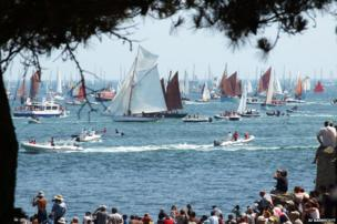 Regatta at the Gulf of Morbihan