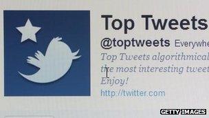 Twitter website homepage